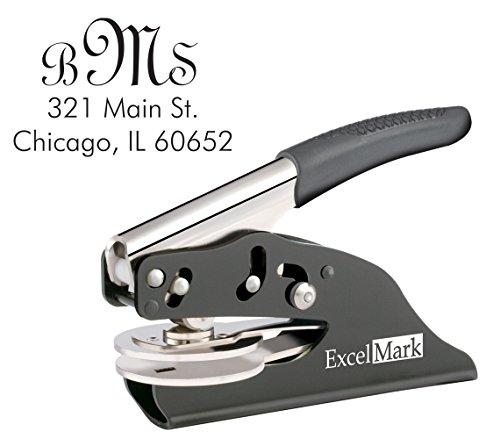 ExcelMark Hand Held Monogram Address Gift Embosser – Style 21 by ExcelMark