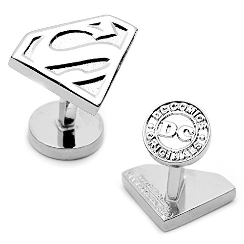 Cufflinks Inc. Men's Silver Superman Shield Cufflinks Silver One Size