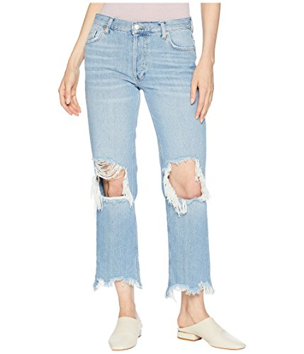 Free People Women's Maggie Mr Straight Jeans Light Denim 27 26