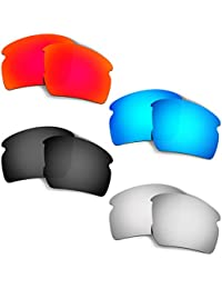 HKUCO Mens Replacement Lenses For Oakley Flak 2.0-4 pair