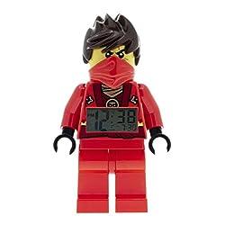 LEGO Ninjago Sky Pirates Kai Kids Minifigure Light Up Alarm Clock   red/black   plastic   9.5 inches tall   LCD display   boy girl   official