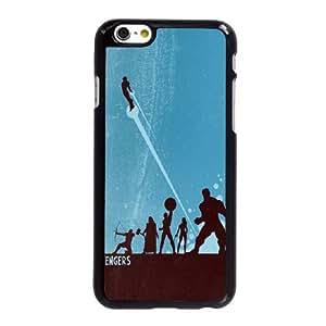 B4X23 The Avengers Antiguo cartel T4Z4BG funda iPhone 6 Plus 5.5 pufunda LGadas funda caja del teléfono celular cubren WU6GKN1RU negro