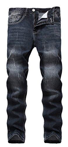 Wholesale Fashion Jeans (Men's Black Skinny Slim Fit Stretch Straight Fashion Denim Jeans Pants)