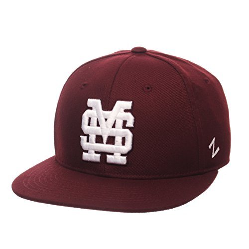 State Fitted Cap - ZHATS NCAA Mississippi State Bulldogs Men's M15 Fitted Hat, 7_3/8, Maroon