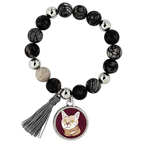 Bengal Cat Jewelry Bracelet for Women Girls (Lyric), Funny Cat Gifts 9187