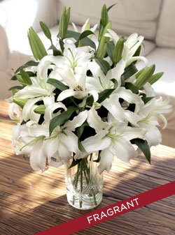 White Oriental Lilies by Organic Bouquet