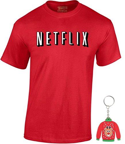 awkwardstyles-mens-netflix-t-shirt-christmas-shirt-ugly-sweater-key-chain-l-red