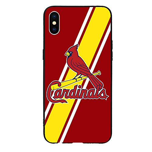 Liquid Silicone Case Compatible with iPhone Xs,Gel Rubber Full Body Protection Shockproof Cover TPU Case Drop Cell Phone Shell for Sports Baseball Games Au24-206