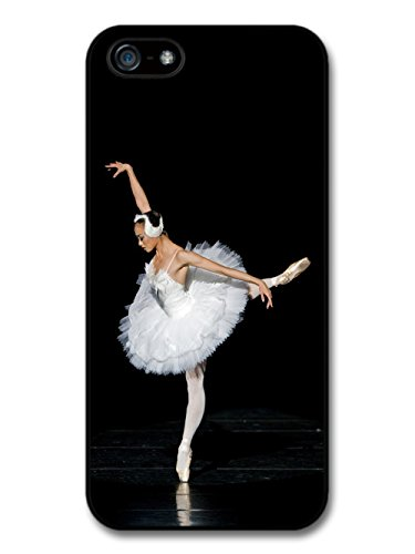 Ballet Dancer on Spotlight with White Ballet Skirt Swan coque pour iPhone 5 5S