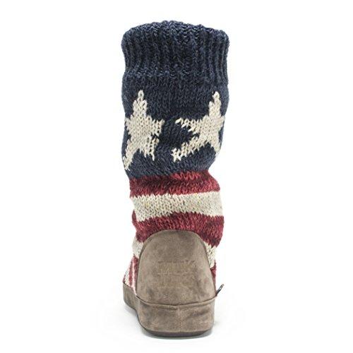 Slouch Americana Boot Women's Luks Vanessa Red Muk nqIXtn
