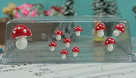 Medium Flatback Mushrooms Set of 4