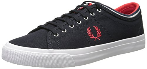 Fred Perry Men's Kendrick Tipped Cuff Canvas Fashion Sneaker,Navy,11 UK/12 M US