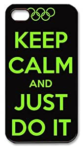Keep calm and just do it DIY Hard PC For Apple Iphone 5/5S Case Cover Case white
