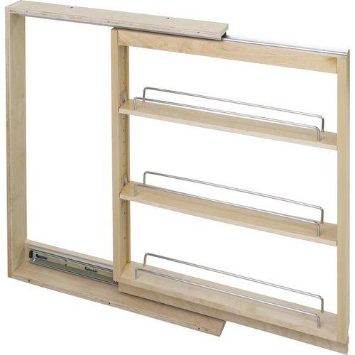 Hardware Resources BFPO6SC Base Cabinet Filler Pullout, Maple