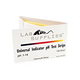 Litmus pH Test Strips, Universal Application (pH 1-14), 2 Packs of 100 Strips 101 Sold as Two Packs of 100 pH Strips, 200 Strips Total pH 1.0-14.0 Full Range Test Strips pH Color Chart Intervals: 1, 2, 3, 4, 5, 6, 7, 8, 9, 10, 11, 12, 13, 14