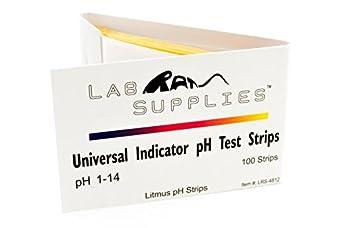 Litmus pH Test Strips, Universal Application (pH 1-14), 2 Packs of 100 Strips