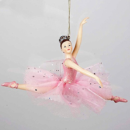 Ballerina Leaping Christmas Ornament Pink Tutu C8157-B