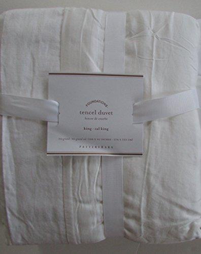 Pottery Barn TENCEL Duvet Cover King/California King ~*White*~ (Pottery Barn White Duvet Cover)