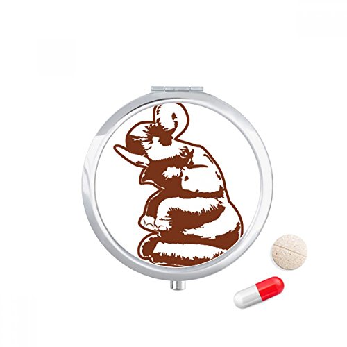 Thai Customs Culture Thailand Sculpture Travel Pocket Pill case Medicine Drug Storage Box Dispenser Mirror Gift by DIYthinker