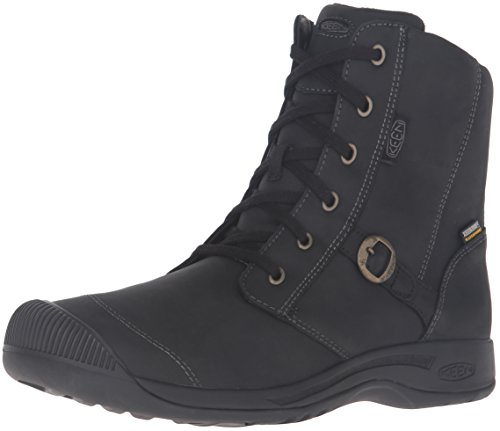 KEEN Women's Reisen Zip Waterproof FG Shoe, Black, 5 M US by KEEN