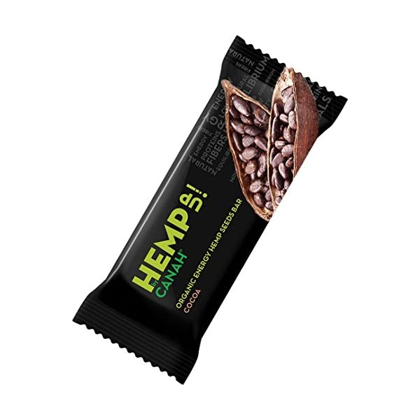 Hemp Up by Canah Mixed Organic Energy Hemp Bars – Healthy, Gluten Free, No Sugar Added, Vegan Protein Bar, Asorted Flavours, Cocoa Cranberry Vanilla Sour Cherry Barberry and Fig Pack of 12 x 48grams