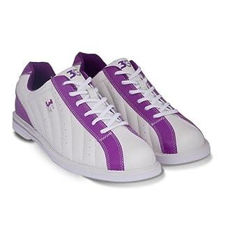 3G Bowling Womens Kicks Bowling Shoes - White/Purple Size 10