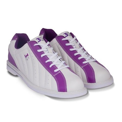 3G Bowling Womens Kicks Bowling Shoes - White/Purple Size 10