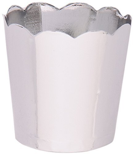 Simply Baked Petite Paper Baking Cup, Metallic Silver, 100 Pieces, Disposable and Oven-safe