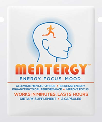 MENTERGY – Clinically Formulated Nootropic Supplement which Offers Sustained Energy, Improved Memory Retention/Focus, Enhanced Physical Performance & an Elevated Mood. (30 Pouch Carton) Review