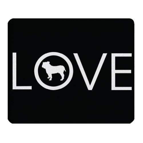 Love Bulldog Mousepad (Color=Navy)