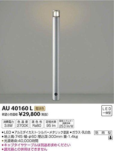 コイズミ照明 スリムガーデンライトφ60/地上高745mm(意匠登録済)シルバーメタリック AU40160L B00KVWJCH4 11476 地上高745mm|シルバーメタリック シルバーメタリック 地上高745mm