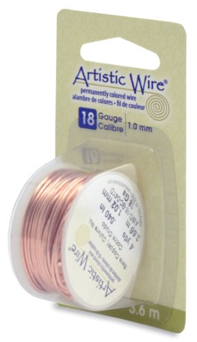 18g Copper Wire - Beadalon Artistic Wire 18-Gauge Bare Copper Wire, 4-Yards