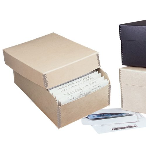 File Photo Photo - Lineco Archival Infinity Photo File Box with Metal Edges, 12 Acid-Free Envelopes, 4 X 6 inches, Tan (462-5060)