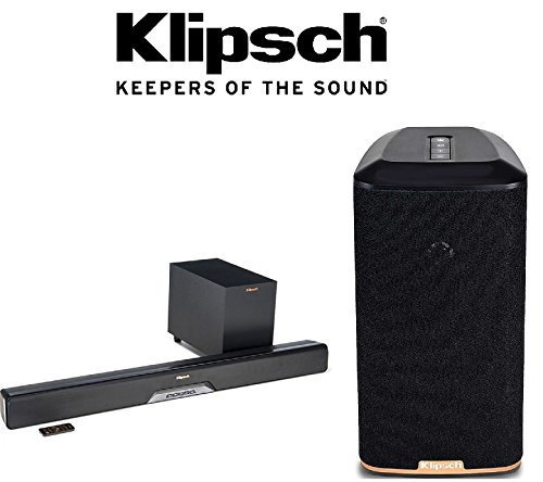 Klipsch RSB-8 Sound Bar and Wireless Subwoofer System + Klip
