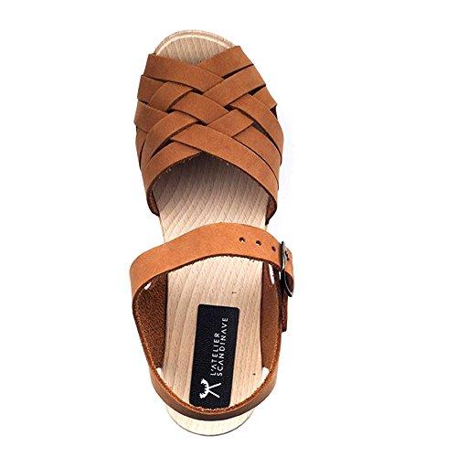 L'ATELIER SCANDINAVE - Sandalias de vestir para mujer marrón claro