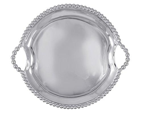 (MARIPOSA 2316 Pearled Round Handled Tray)