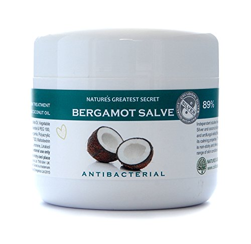 Natures Greatest Secret - Soothing Bergamot Formula - Antibacterial, Antifungal Colloidal Silver and Coconut Oil Formula - Soothing Skin Treatment - 150ml