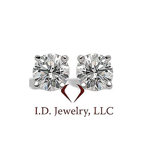 0.37CTW H SI Martini 14KT Round Cut Diamond Stud Earrings ()