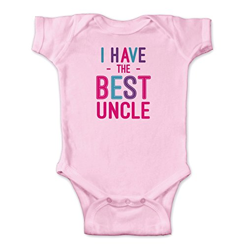 - Personalized I Have The Best Uncle Infant Bodysuit Pink - New Born