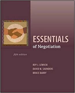 negotiation roy j lewicki Roy lewicki is the dean's distinguished teaching professor and professor of management and human resources at the max m fisher college of business, at the ohio state university professor.