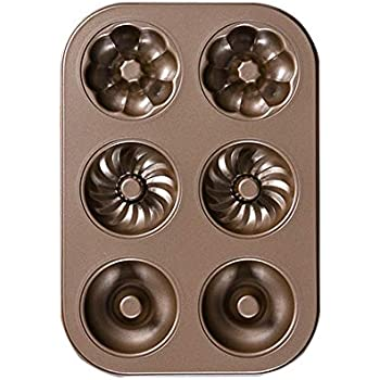 Amazon Com Bakerdream Mini Donut Pan 6 Cups Fancy Donut