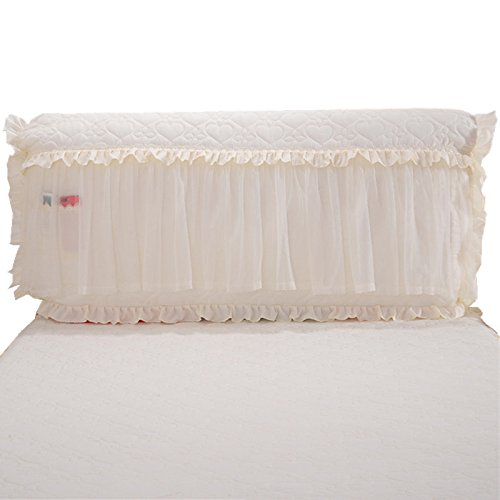 Zhiyuan Quilted Brushed Microfiber All Cover Headboard Slipcover with Pocket, Bisque, Queen - Cotton Slipcover Headboard