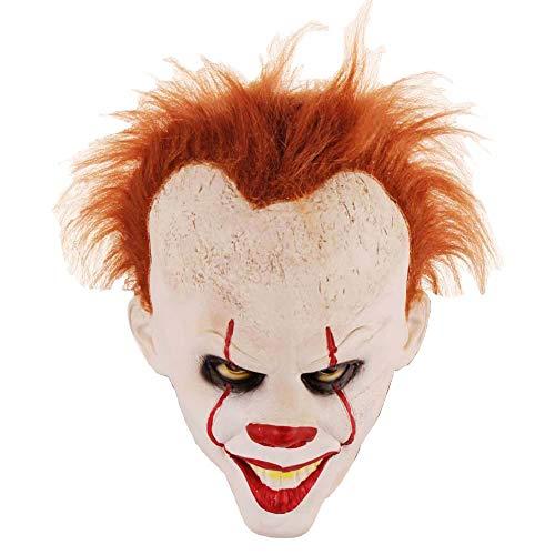 Stephen King's It Mask,Latex Full Head Clown Mask,Halloween Costumes (Stephen King's) White