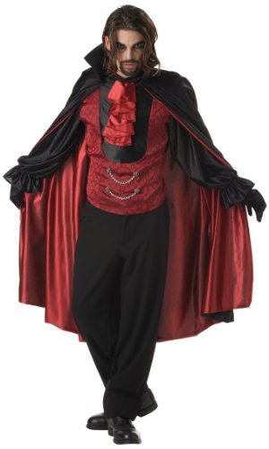California Costumes Men's Count Blood Thirst Costume, Black/Red,X-Large -