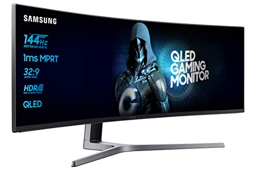 Samsung LC49HG90DMUXEN 49' Curved 1ms Ultra Wide 144Hz Monitor - 32:9,...