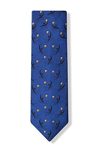 Blue Silk Tie | Water Polo Necktie