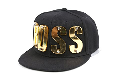 3D Letter Hip-Hop Snapback Mirror Baseball Cap