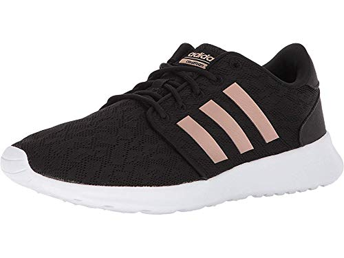 adidas Women's CF QT Racer W Sneaker, Core Black, Copper Met, Ftwr White, 9.5 M US (Most Comfortable Dress Shoes For Standing All Day)
