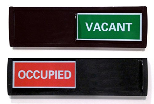 Vacant Sign with Color Options (Restroom Sign, Office Sign, Conference Sign, Privacy Sign, Occupied Sign) - Tells Whether Room in Vacant or Occupied (Black Red/Green (Green Restroom Sign)