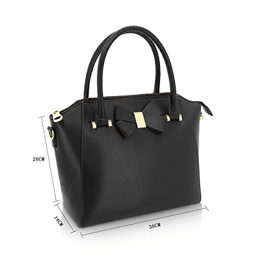 Handbag Ladies GA60589 Black Anna Tote Bow Bag Women's Smith qYaAPYx6